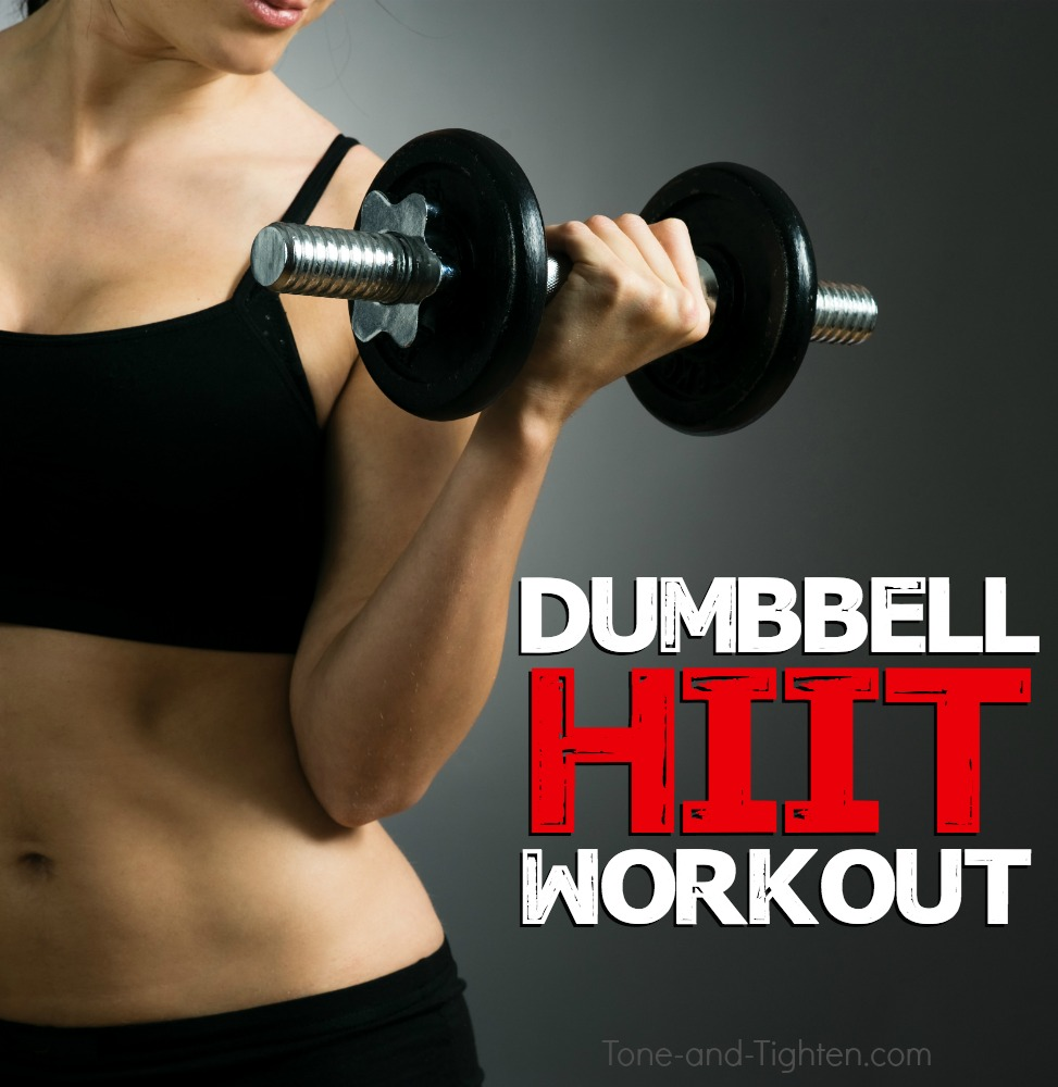 Strength training hiit with dumbbells tone and tighten
