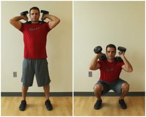 dumbbell squats shoulders