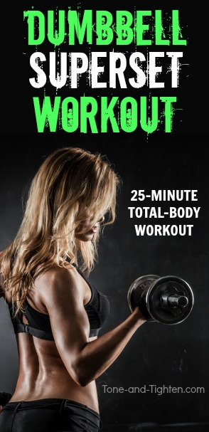 dumbbell superset workout at home pinterest