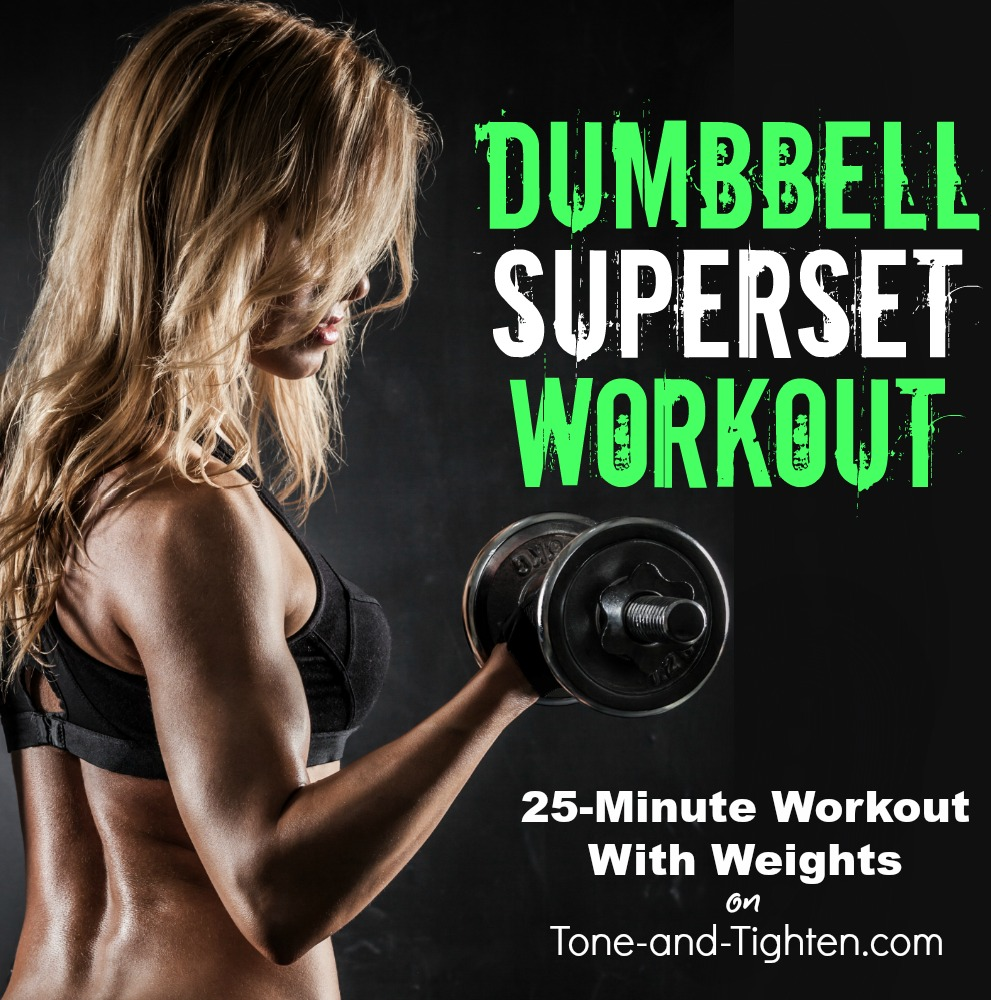 dumbbell superset workout at home tone tighten