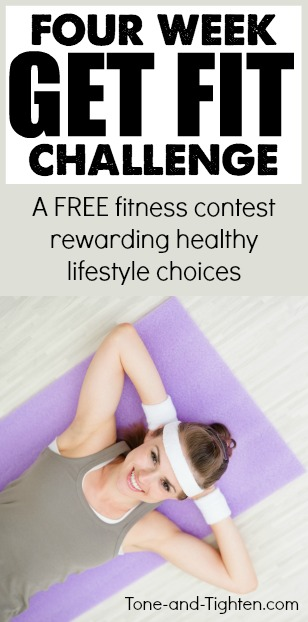 four week get fit challenge pinterest