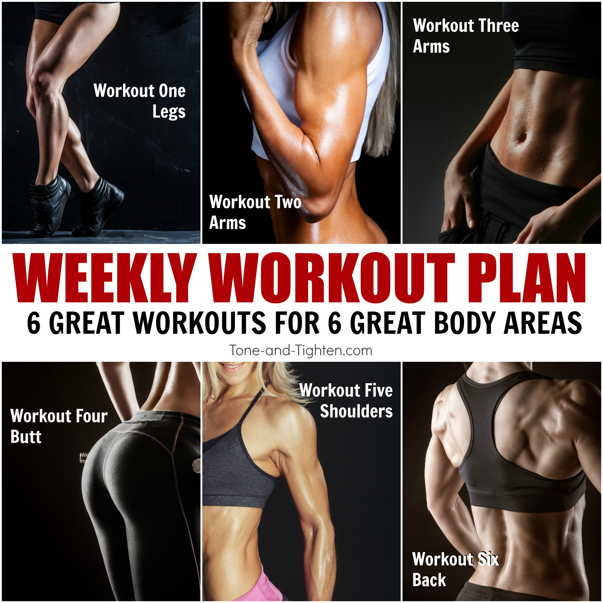 Total Body One-Week Workout Plan | Tone and Tighten