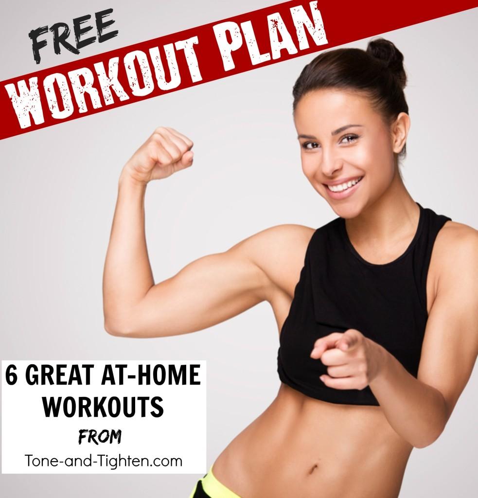 free workout plan at home tone tighten