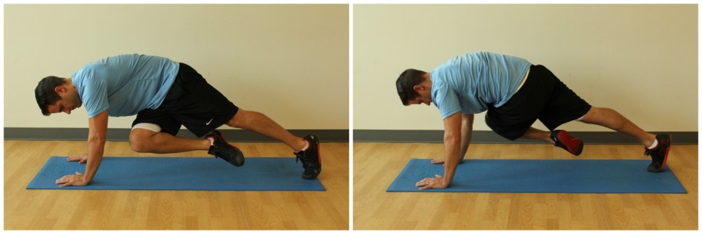 mountain climber with twist exercise