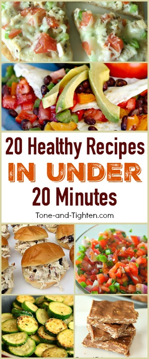 quick easy healthy recipes under 20 minutes pinterest