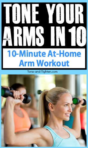 10minute toned arm workout at home  tone and tighten