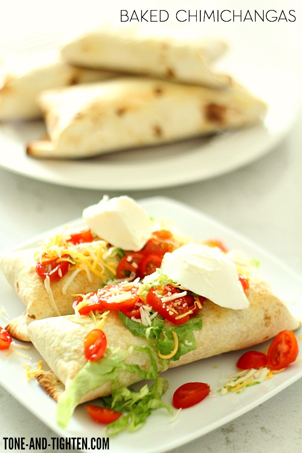 Baked Chicken Chimichangas on Tone-and-Tighten