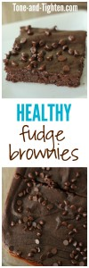 Healthy Fudge Brownies from Tone-and-Tighten