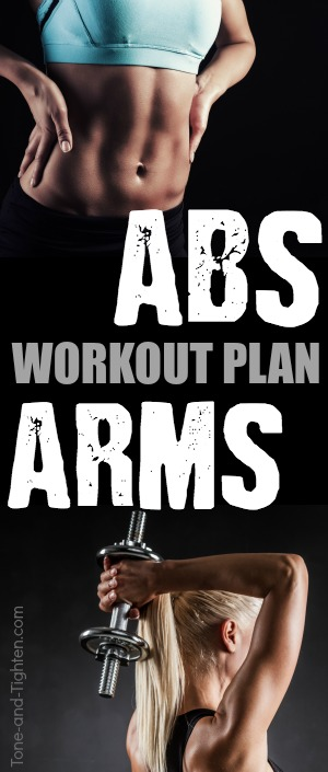 abs and arms workout plan at home