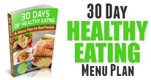 healthy eating menu plan sidebar ad