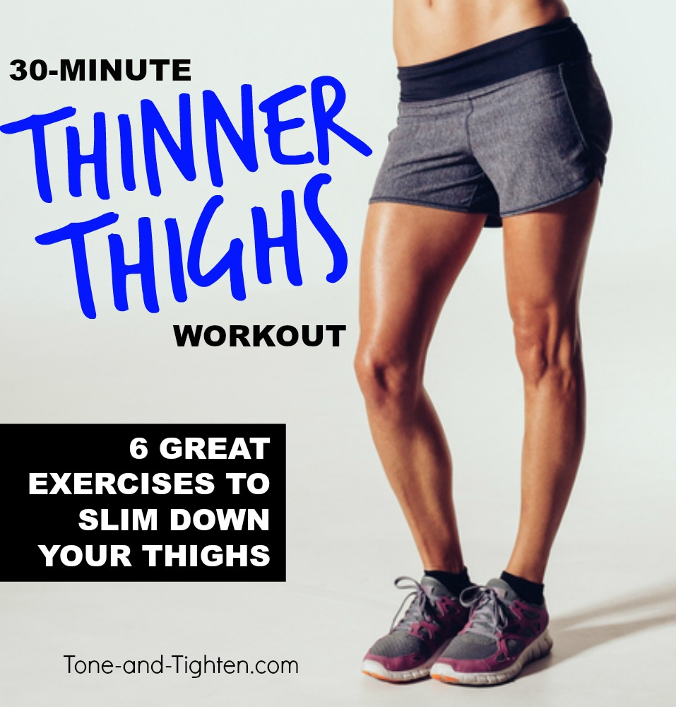 6 Great Exercises For Thinner Thighs | Tone and Tighten