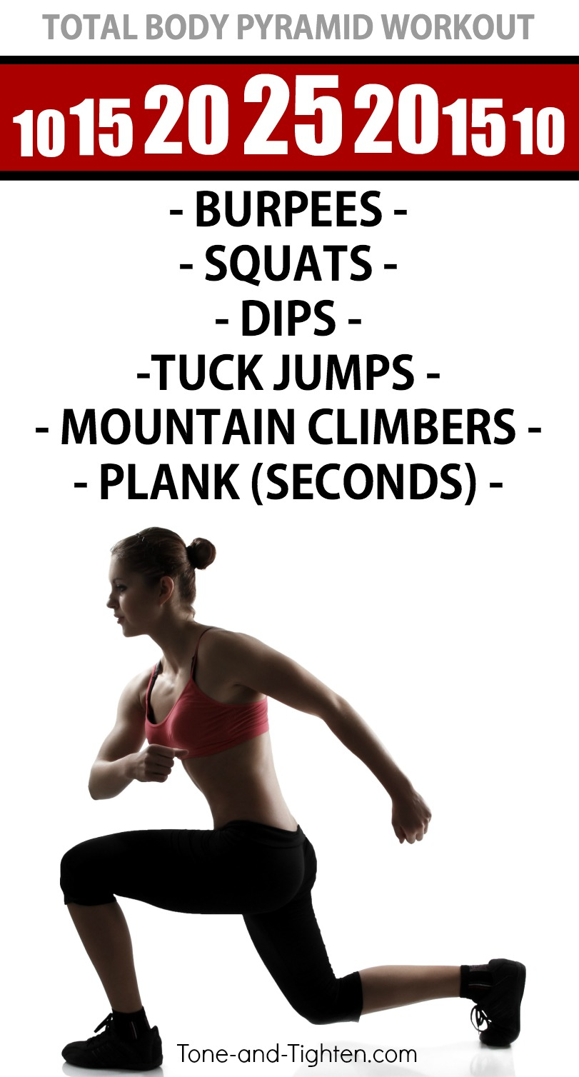 At Home Bodyweight Pyramid Workout