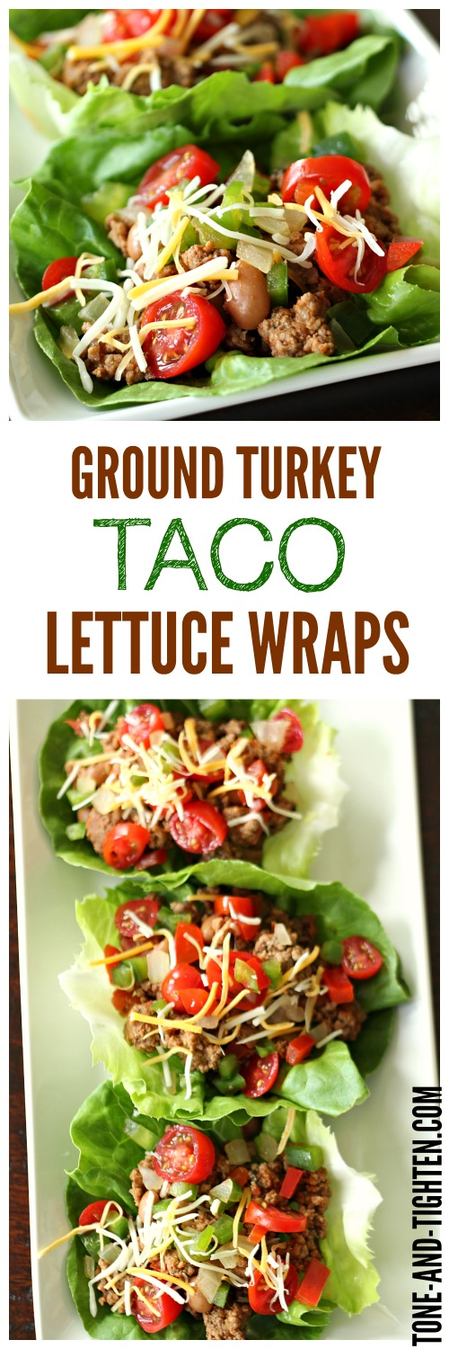 Ground Turkey Taco Lettuce Wraps from Tone-and-Tighten