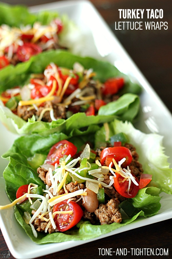 Ground Turkey Taco Lettuce Wraps on Tone-and-Tighten