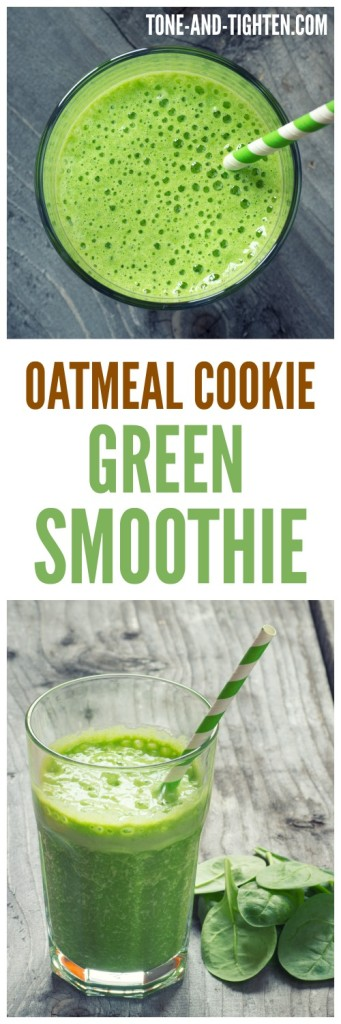 Oatmeal Green Smoothie on Tone-and-Tighten