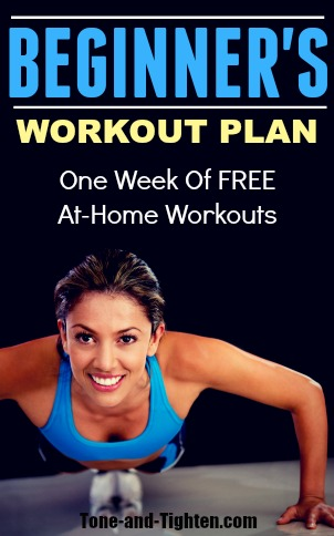 5 Great Workouts Perfect For Beginners! Full Workouts Free on Tone-and-Tighten.com