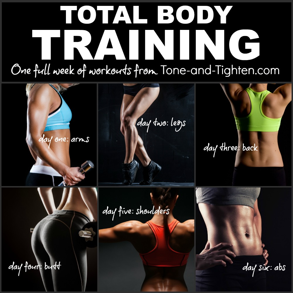 free total body workout plan tone tighten