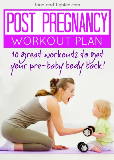 post pregnancy at home workout plan pinterest