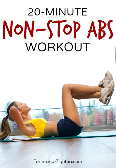 20 Minute Non-Stop Abs Workout At Home