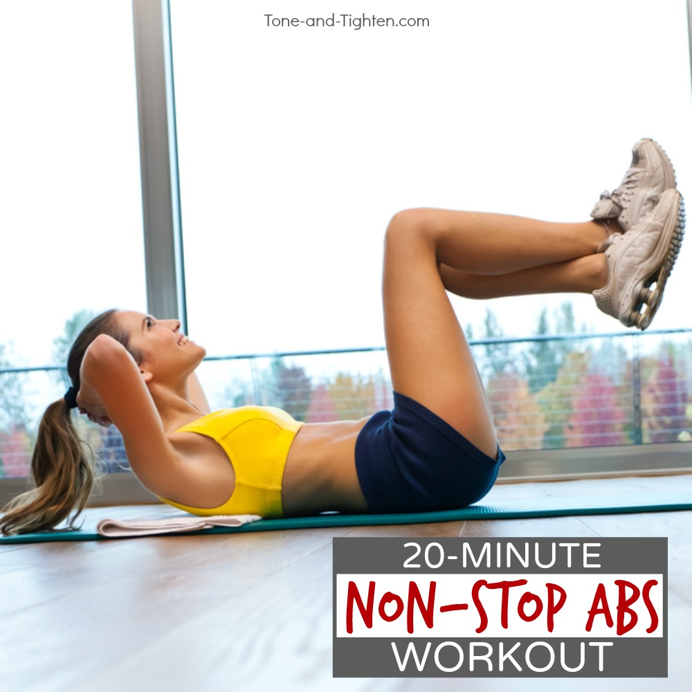 quick at home non stop abs workout
