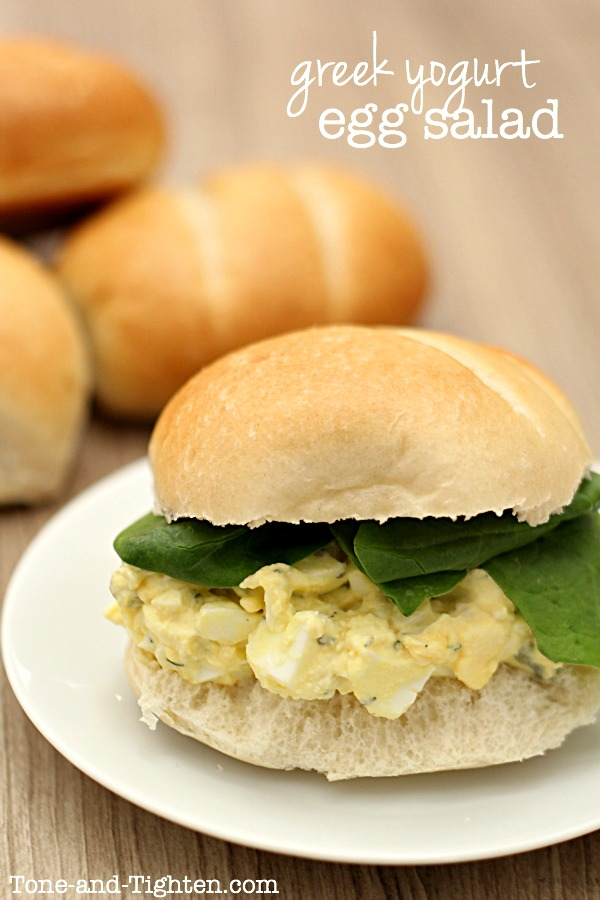 Greek Yogurt Egg Salad Sandwiches on Tone-and-Tighten