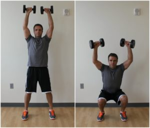 overhead squat dumbbell