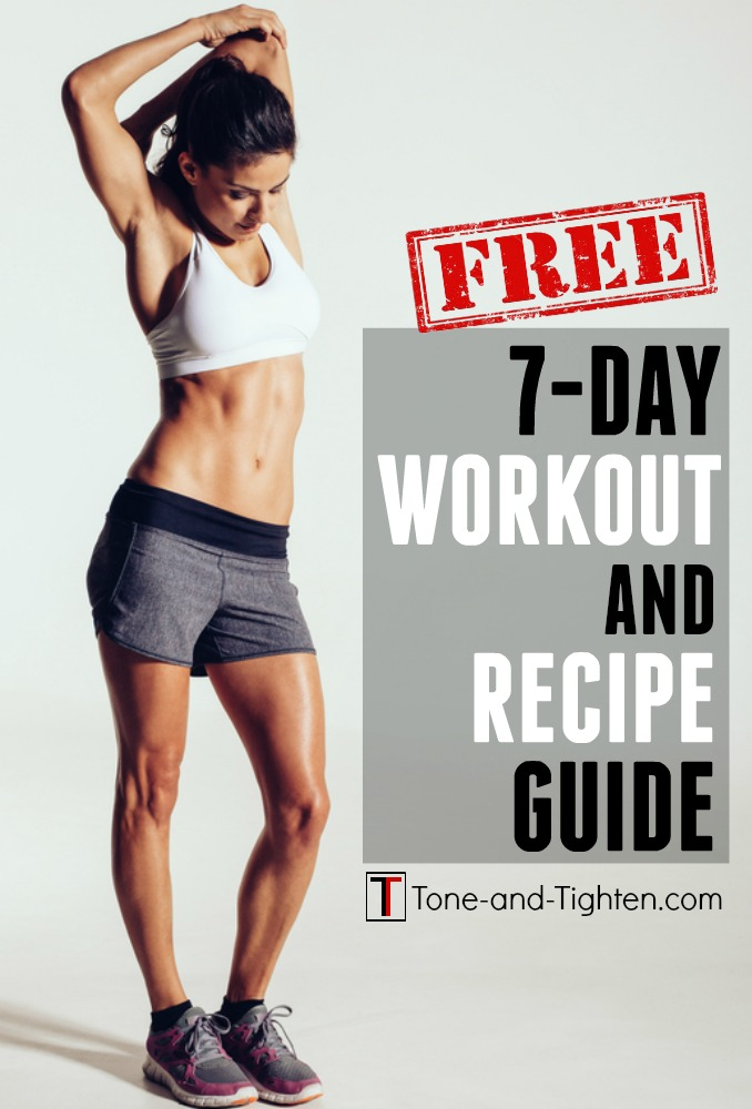 7-Day workout and recipe guide Pinterest Image
