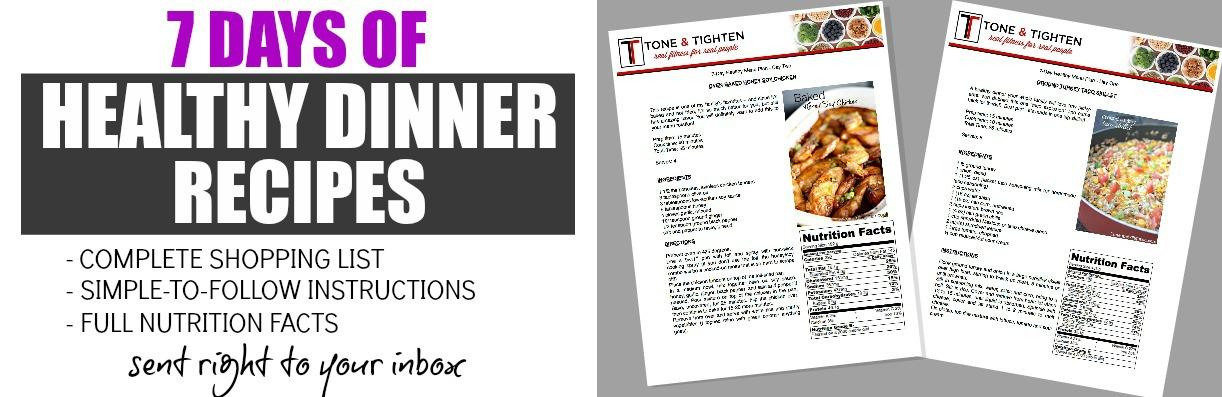 7 day workout and recipe plan recipe menu image