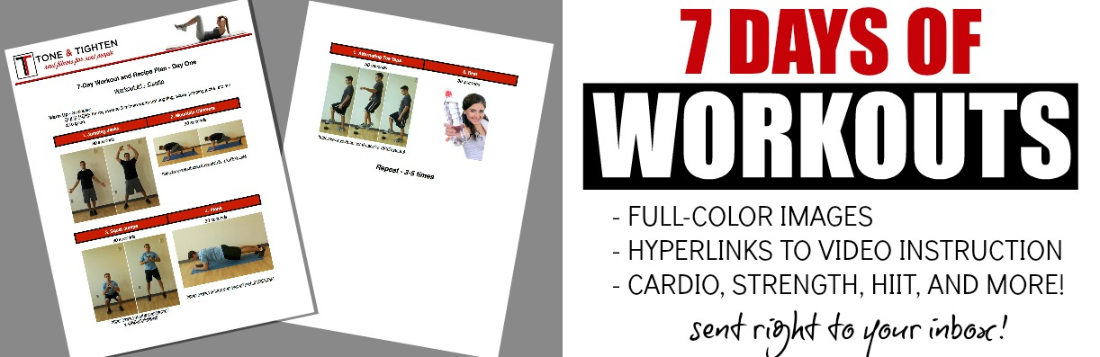 7 day workout and recipe plan workout image
