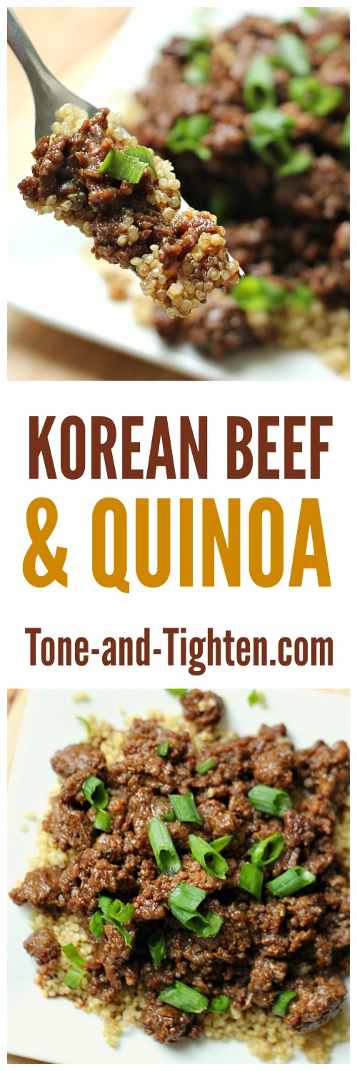 Korean Beef and Quinoa from Tone-and-Tighten