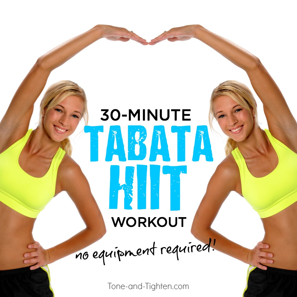 30-Minute At Home Tabata HIIT Workout | Tone and Tighten
