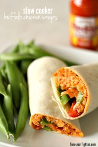 Slow Cooker Buffalo Chicken Wraps on Tone-and-Tighten