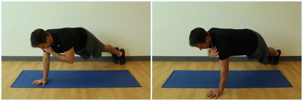 plank with shoulder tap exercise
