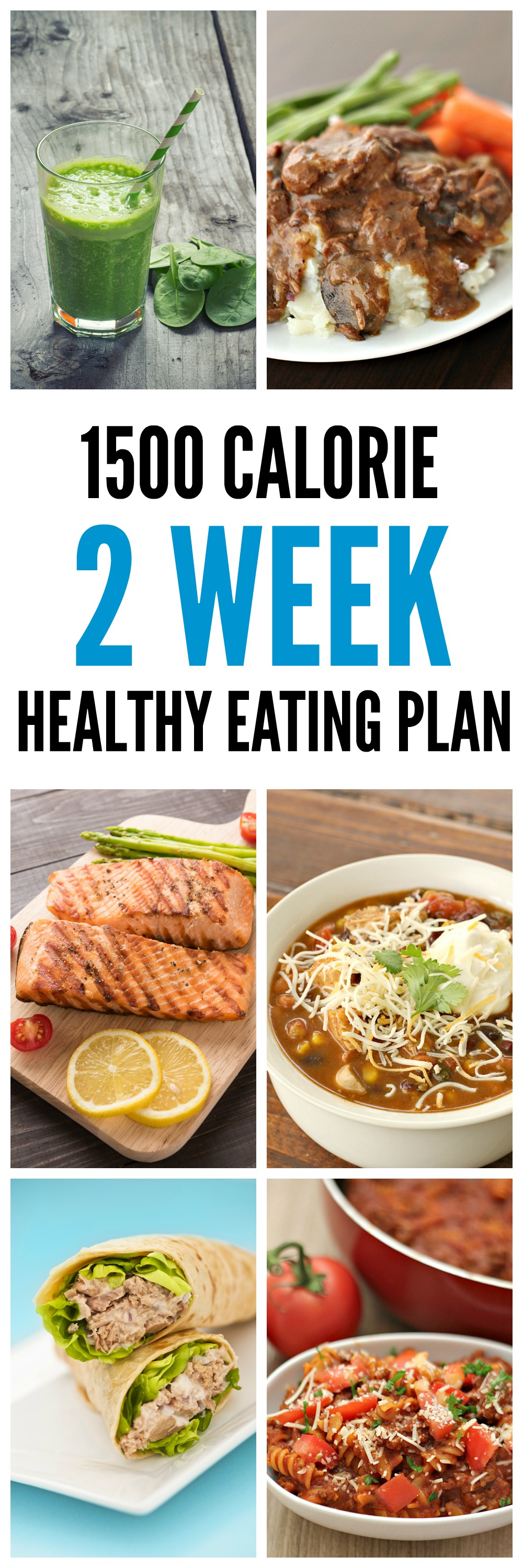 1500 Calorie 2 Week Healthy Eating Plan