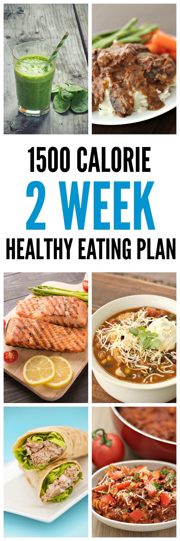 1500 Calorie 2 Week Healthy Eating Plan