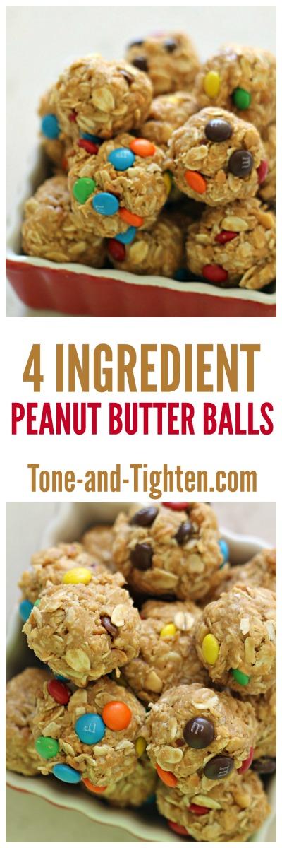 4 Ingredient Peanut Butter Balls - Tone-and-Tighten