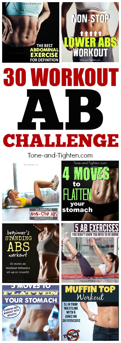 at home ab workout challenge pinterest
