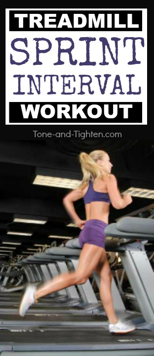 Sprint intervals push your heart rate higher and burn more calories than regular running alone. See what I mean here on Tone-and-Tighten.com