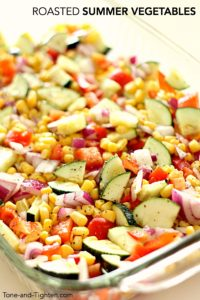 Roasted Summer Vegetables on Tone-and-Tighten