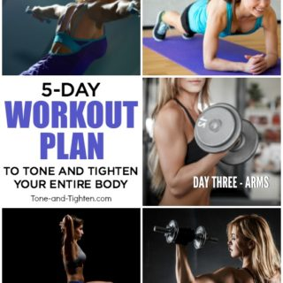 free 5-day at home workout plan tone tighten