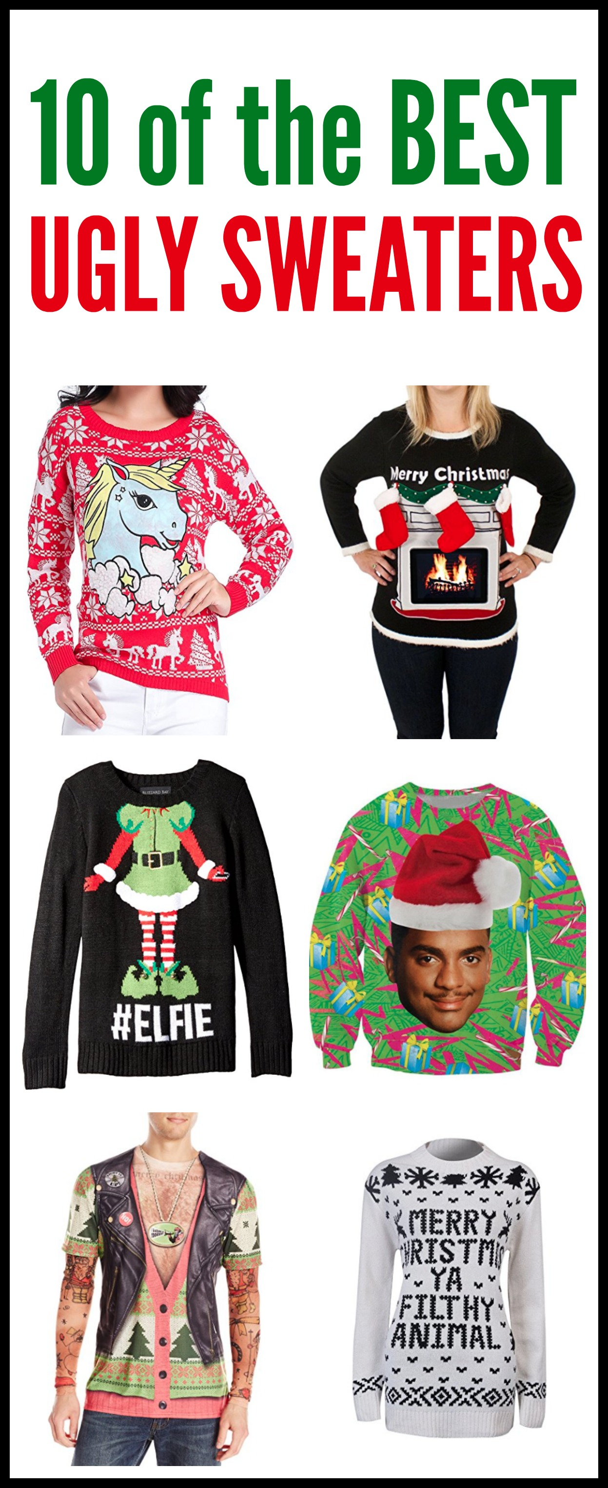 10 of the BEST Ugly Sweaters for Christmas