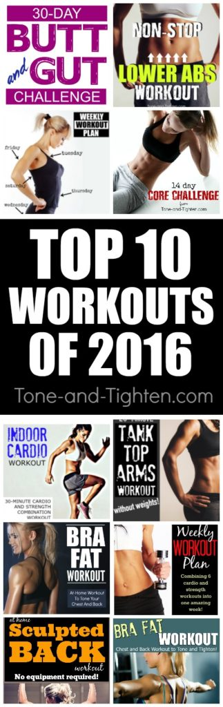 You wanted the best - you got the best! Our top 10 workouts of 2016 as selected by you - the readers! From Tone-and-Tighten.com