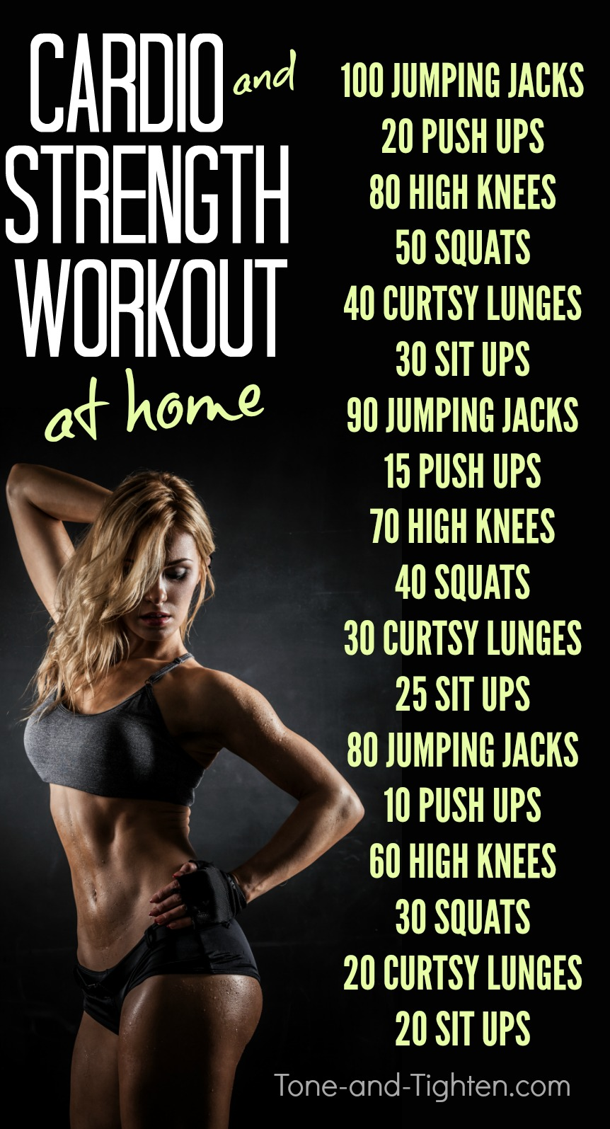 Cardio and Strength Training Workout | Tone and Tighten