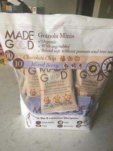 healthy costco snack - made good granola minis