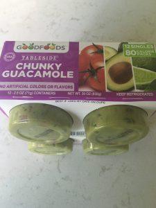 healthy costco snack - table side guacamole cups