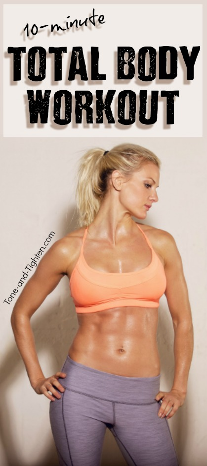 Quick ten-minute bodyweight workout as well as a great discount on delicious protein bars! Check it out! From Tone-and-Tighten.com