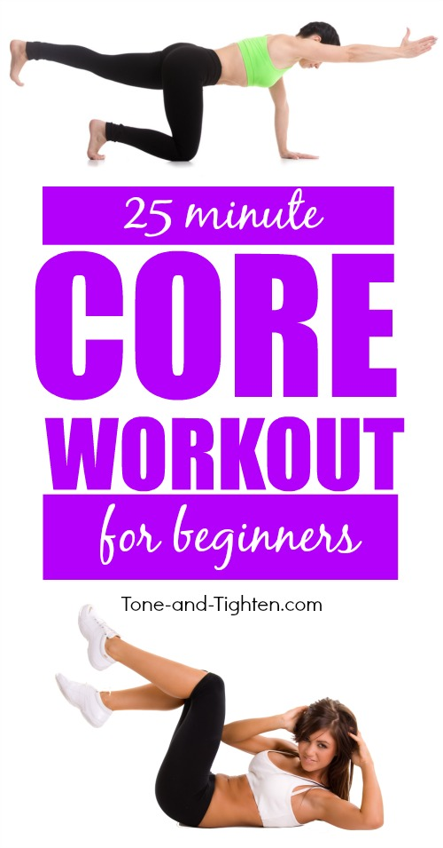Quick core workout you can do at home that's perfect for beginners! Full video instruction at Tone-and-Tighten.com