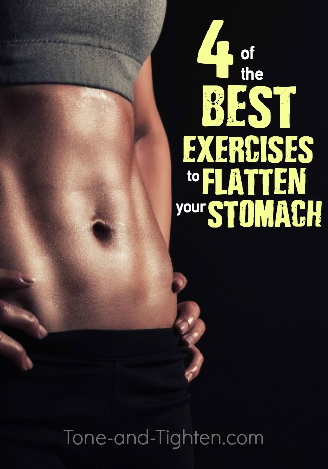 4 of the best exercises to flatten your stomach! At home abs/core workout from Tone-and-Tighten.com