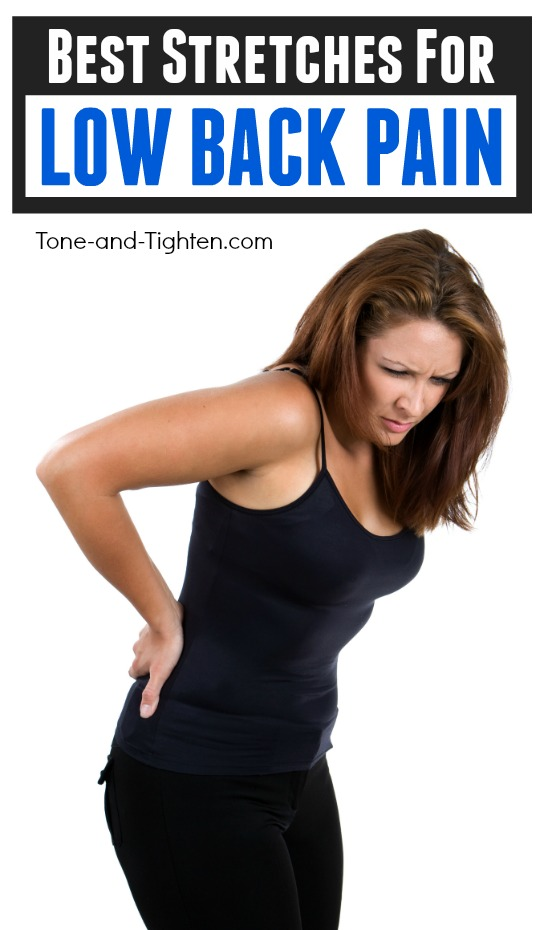 The best home stretches for low back pain. Help your lumbar pain with these exercises from the physical therapist at Tone-and-Tighten.com