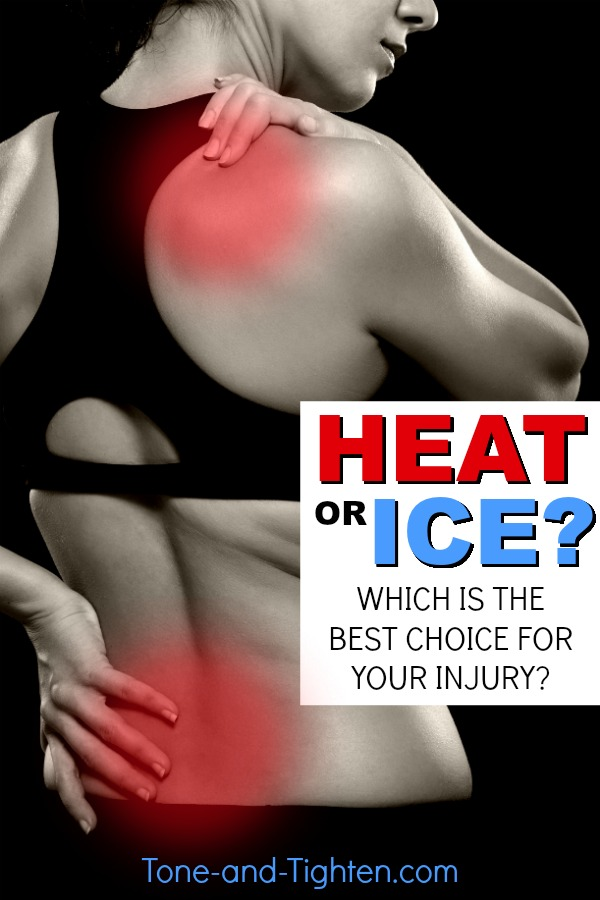 Heat or ice for your injury? Learn why and how you would use heat or ice from the doctor of physical therapy at Tone-and-Tighten.com